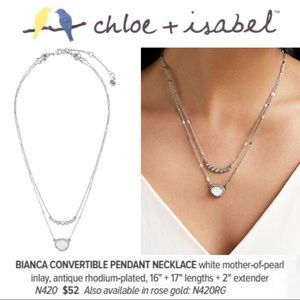 Bianca Convertible Pendant Necklace c+i N420